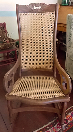 Caned rocker completed