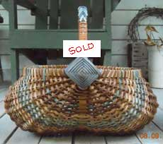 Egg or Buttocks-basket (sold), made in 2009