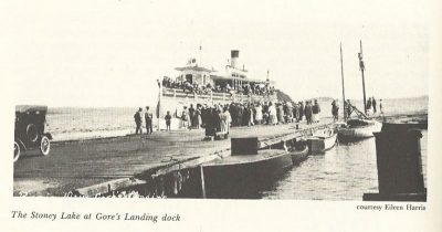"""The """"Stoney Lake"""" at the Gore's Landing dock"""