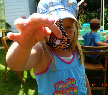 Releasing tagged butterfly