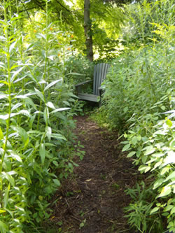simple living: a path to a secret hideaway