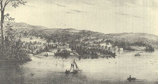 Gore's Landing early painting